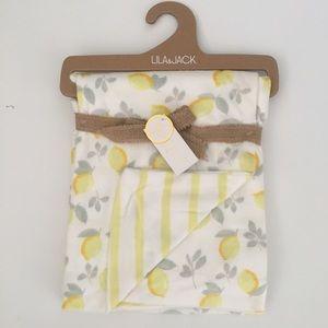 NEW Lila & Jack Baby Blanket Reverses to Stripe